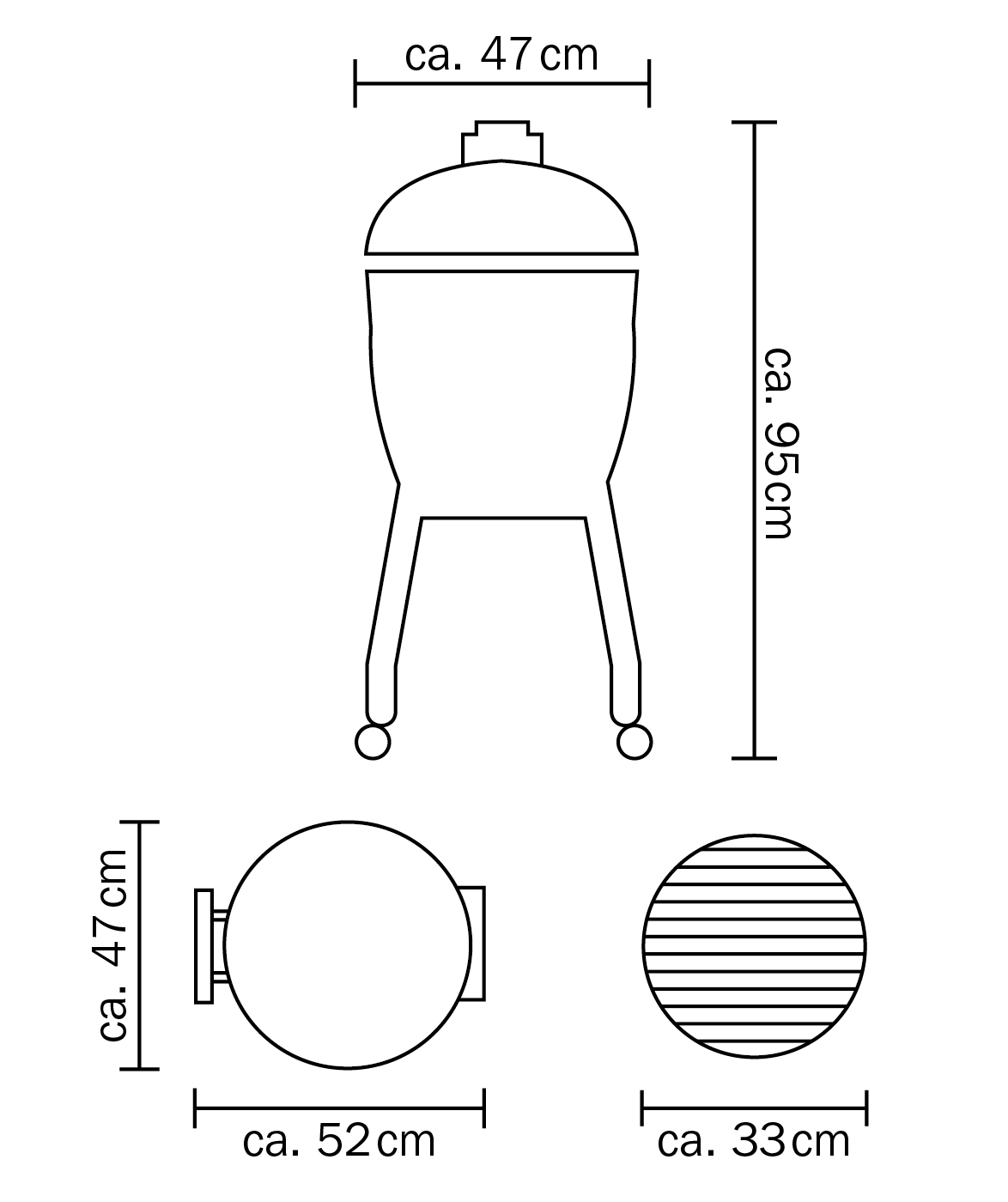 Junior Abmessungen - ohne Gestell - ohne Seitentische PNG transparent 1